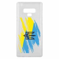 Чехол для Samsung Note 9 Герб на рваному прапорі