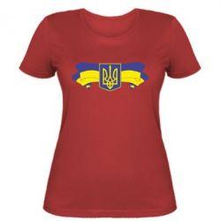 Женская футболка Герб на стрічці - FatLine