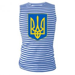 Майка-тельняшка Герб неньки-України - FatLine