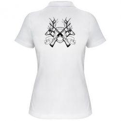 Женская футболка поло Герб Охотника - FatLine