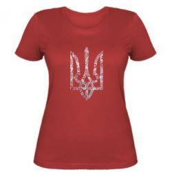 Женская футболка Герб с узорами Голограмма