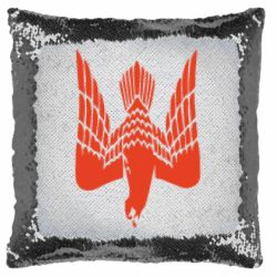 Подушка-хамелеон Герб-сокіл