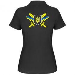 Женская футболка поло Герб та мечи - FatLine