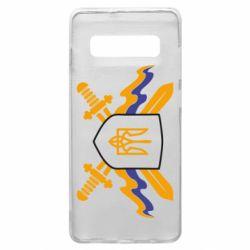 Чехол для Samsung S10+ Герб та мечи