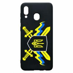 Чехол для Samsung A20 Герб та мечи