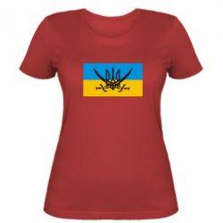 Женская футболка Герб та шаблі - FatLine