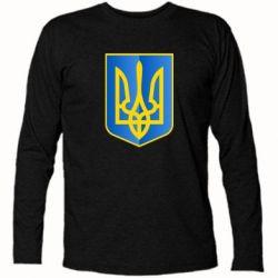 Футболка с длинным рукавом Герб України 3D - FatLine