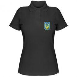 Женская футболка поло Герб України 3D - FatLine