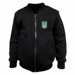 Детский бомбер Герб України 3D