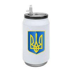 Термобанка 350ml Герб України 3D