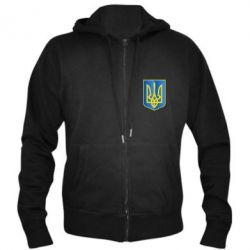 Мужская толстовка на молнии Герб України 3D - FatLine