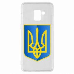 Чехол для Samsung A8+ 2018 Герб України 3D