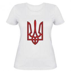 Женская футболка Герб України (двокольоровий) - FatLine