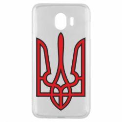 Чехол для Samsung J4 Герб України (двокольоровий) - FatLine