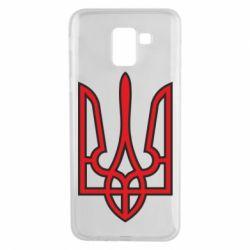 Чехол для Samsung J6 Герб України (двокольоровий) - FatLine