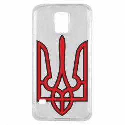 Чехол для Samsung S5 Герб України (двокольоровий) - FatLine