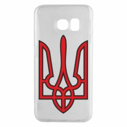 Чехол для Samsung S6 EDGE Герб України (двокольоровий) - FatLine