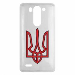 Чехол для LG G3 mini/G3s Герб України (двокольоровий) - FatLine