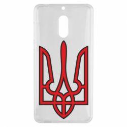 Чехол для Nokia 6 Герб України (двокольоровий) - FatLine