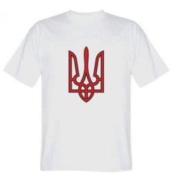 Мужская футболка Герб України (двокольоровий) - FatLine