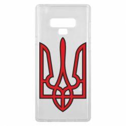 Чехол для Samsung Note 9 Герб України (двокольоровий) - FatLine