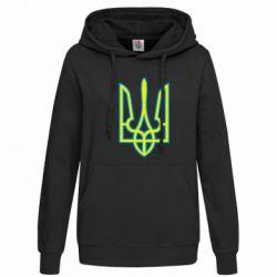 Женская толстовка Герб України (двокольоровий) - FatLine