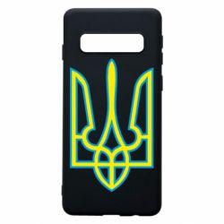 Чохол для Samsung S10 Герб України (двокольоровий)