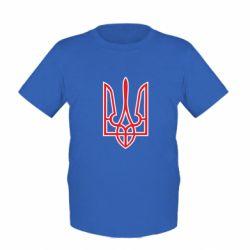 Детская футболка Герб України (двокольоровий) - FatLine
