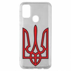 Чохол для Samsung M30s Герб України (двокольоровий)