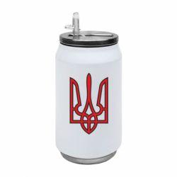 Термобанка 350ml Герб України (двокольоровий)