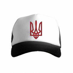 Дитяча кепка-тракер Герб України (двокольоровий)
