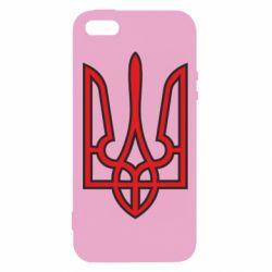 Чехол для iPhone5/5S/SE Герб України (двокольоровий) - FatLine