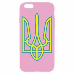 Чехол для iPhone 6/6S Герб України (двокольоровий) - FatLine