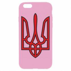 Чехол для iPhone 6 Plus/6S Plus Герб України (двокольоровий) - FatLine