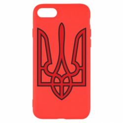 Чехол для iPhone 7 Герб України (двокольоровий) - FatLine