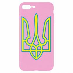 Чехол для iPhone 8 Plus Герб України (двокольоровий) - FatLine