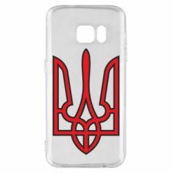 Чехол для Samsung S7 Герб України (двокольоровий) - FatLine