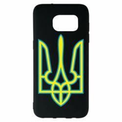 Чехол для Samsung S7 EDGE Герб України (двокольоровий) - FatLine