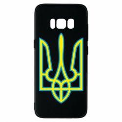 Чехол для Samsung S8 Герб України (двокольоровий) - FatLine