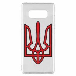 Чехол для Samsung Note 8 Герб України (двокольоровий) - FatLine