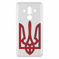 Чехол для Huawei Mate 10 Pro Герб України (двокольоровий) - FatLine