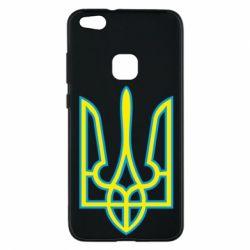 Чехол для Huawei P10 Lite Герб України (двокольоровий) - FatLine