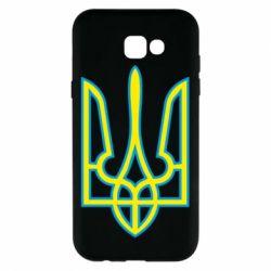 Чехол для Samsung A7 2017 Герб України (двокольоровий) - FatLine