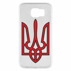 Чехол для Samsung S6 Герб України (двокольоровий) - FatLine