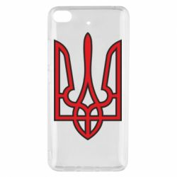Чехол для Xiaomi Mi 5s Герб України (двокольоровий) - FatLine