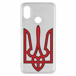 Чехол для Xiaomi Mi8 Герб України (двокольоровий) - FatLine