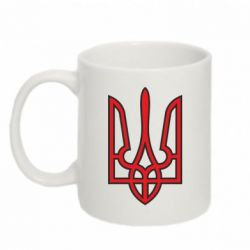 Кружка 320ml Герб України (двокольоровий) - FatLine