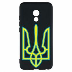 Чехол для Meizu Pro 6 Герб України (двокольоровий) - FatLine