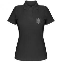 Женская футболка поло Герб України (полий) - FatLine