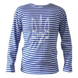 Женская футболка с V-образным вырезом Герб України рваний - FatLine